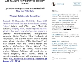 Nicki IG Post