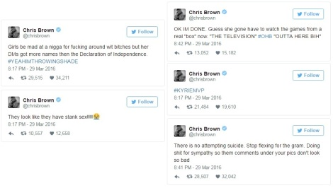 Chris Brown Tweets II