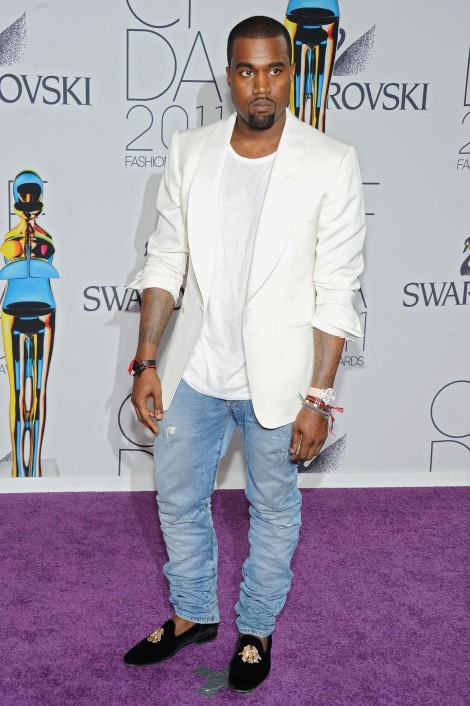 NEW YORK, NY - JUNE 06: Kanye West attends the 2011 CFDA Fashion Awards at Alice Tully Hall, Lincoln Center on June 6, 2011 in New York City. (Photo by Jamie McCarthy/WireImage)